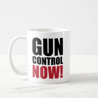 Gun control now classic white coffee mug