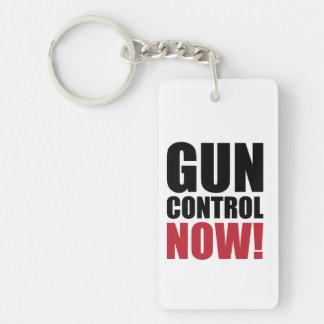 Gun control now Single-Sided rectangular acrylic keychain