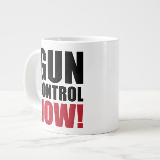 Gun control now large coffee mug