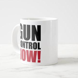 Gun control now large coffee mug