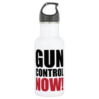 Gun control now 18oz water bottle