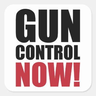 Gun control now square sticker