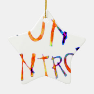 Gun control Double-Sided star ceramic christmas ornament