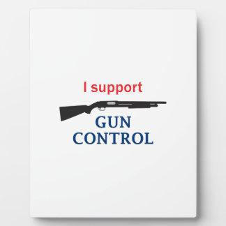 Gun Control Plaques