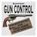 Gun Control Poster print