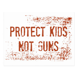 Gun Control Protest Postcard | Protect Kids