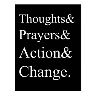 Gun Control Protest Postcard | Thoughts & Prayers