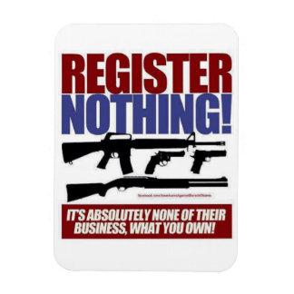 gun control rectangular photo magnet
