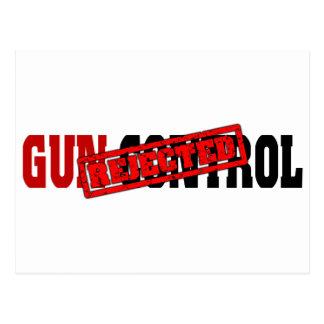 Gun Control Rejected Postcard