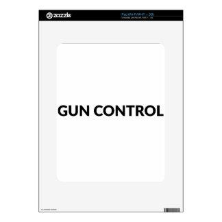 gun CONTROL Skin For iPad