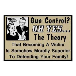 Gun Control? Theory Of A Victim! Poster