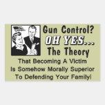 Gun Control? Theory Of A Victim! Rectangular Sticker