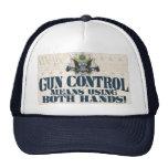 Gun Control: Using Both Hands Gun-Toting Eagle Hat