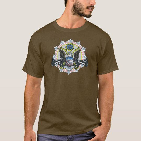 Gun Control: Using Both Hands Gun-Toting Eagle T-Shirt