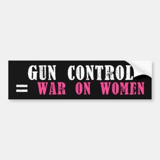 Gun Control War on Women Bumper Sticker