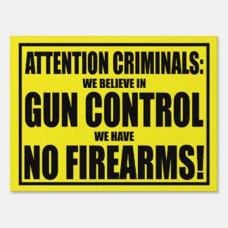 Gun Control Yard Sign