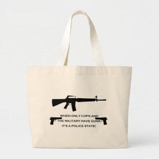 gun cops tote bags