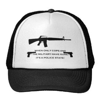 gun cops mesh hats