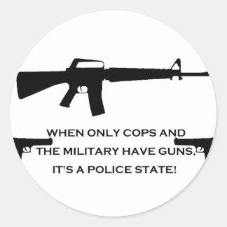 gun cops round sticker