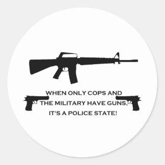 gun cops sticker