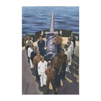 Gun Crew in Victory Formation - US Navy Gallery Wrap Canvas