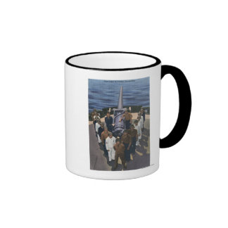 Gun Crew in Victory Formation - US Navy Ringer Coffee Mug