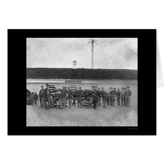Gun Crew of Company K in Fort C. F. Smith, VA 1865 Card