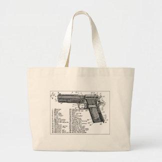 Gun Diagram Canvas Bag
