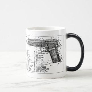 Gun Diagram Magic Mug