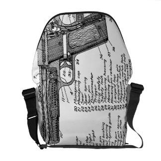 Gun Diagram Courier Bag