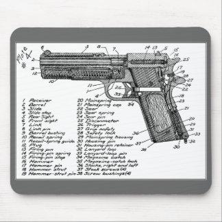 Gun Diagram Mouse Pad