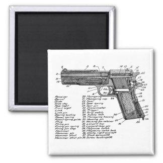 Gun Diagram V2 2 Inch Square Magnet