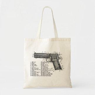 Gun Diagram V2 Canvas Bags