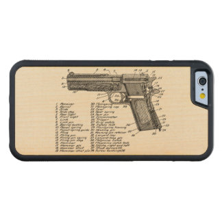 Gun Diagram V2 Carved Maple iPhone 6 Bumper Case