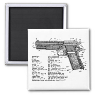 Gun Diagram V2 2 Inch Square Magnet