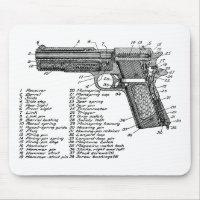 Gun Diagram V2 Mouse Pad