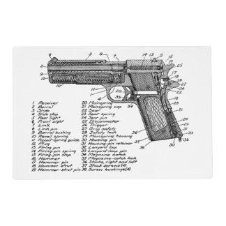 Gun Diagram V2 Laminated Placemat
