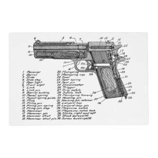 Gun Diagram V2 Placemat