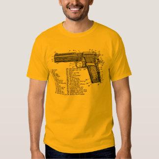 Gun Diagram V2 Tee Shirt