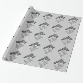 Gun Diagram Gift Wrapping Paper