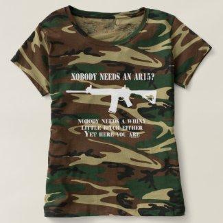 Gun Enthusiast | Nobody needs an AR15? T-shirt