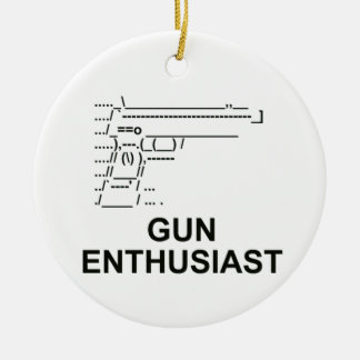 Gun Enthusiast Double-Sided Ceramic Round Christmas Ornament