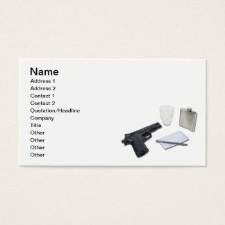 Gun Flask Notebook Business Card