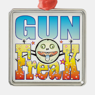 Gun Freaky Freak Silver-Colored Square Decoration