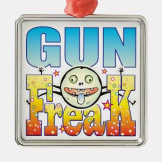Gun Freaky Freak Silver-Colored Square Decoration