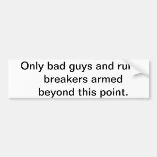 GUN FREE ZONE ACCESSORY STICKER