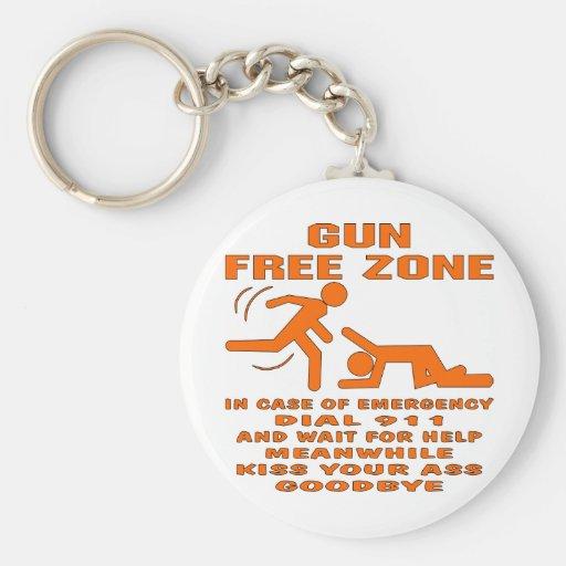 Gun Free Zone Key Chain