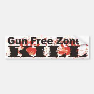 Gun Free Zones KILL Bumper Sticker Car Bumper Sticker