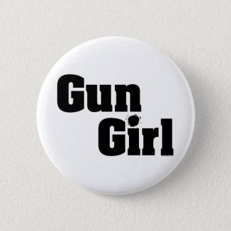Gun Girl Button