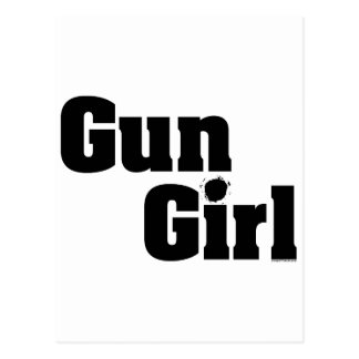 Gun Girl Postcard